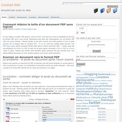 Comment réduire la taille d'un document PDF sans logiciel