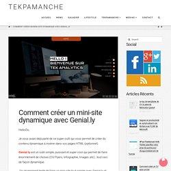 Comment créer un mini-site dynamique avec Genial.ly - Tekpamanche