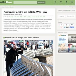 Comment écrire un article WikiHow: 11 étapes