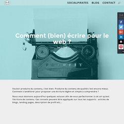 Comment (bien) écrire pour le web ?