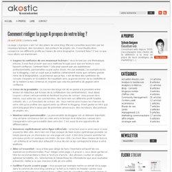 Comment créer une page A propos efficace