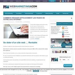 Comment Rédiger Efficacement les Pages de Votre Site Internet