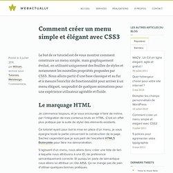 Menu simple et élégant avec CSS3