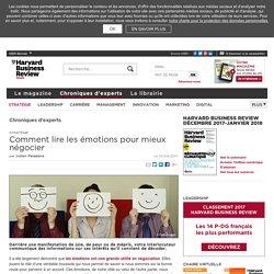 Comment lire les émotions pour mieux négocier