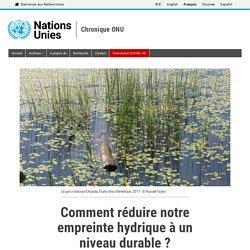 ONU - 2017 - Comment réduire notre empreinte hydrique à un niveau durable ?