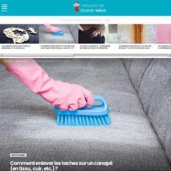 Comment enlever les taches sur un canapé (en tissu, cuir, etc.) ?