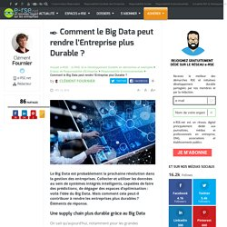 Comment le Big Data peut rendre l'Entreprise plus Durable ?