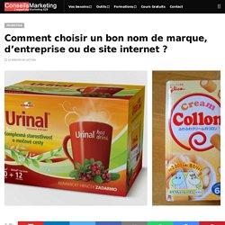 Comment choisir un bon nom de marque, d'entreprise ou de site internet ? - ConseilsMarketing.com