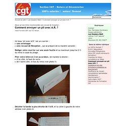 Comment envoyer un pli avec A.R. ? - CGT Nature -llement !