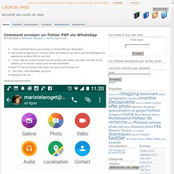 Comment envoyer un fichier PDF via WhatsApp