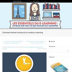 Comment estimer la durée d'un module e-learning