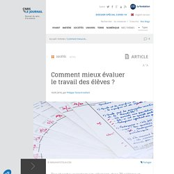 Classes sans notes : premier bilan de la recherche