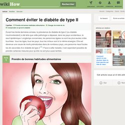 Comment éviter le diabète de type II