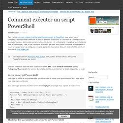 Comment exécuter un script PowerShell