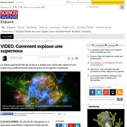 Comment explose une supernova