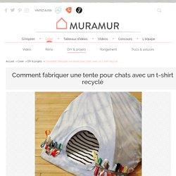 Comment fabriquer une tente pour chats avec un t-shirt recyclé