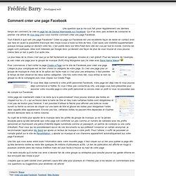Comment créer une page fan sur Facebook pour son groupe de musique - Frédéric Barry