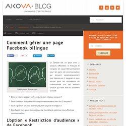 Comment animer une page Facebook multilingue
