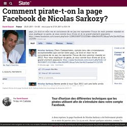 Comment pirate-t-on la page Facebook de quelqu'un?