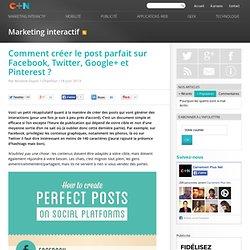 Comment créer le post parfait sur Facebook, Twitter, Google+ et Pinterest ?