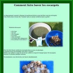 nettoyer les escargots sans orties