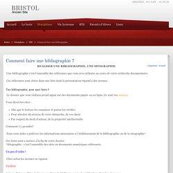 Faire une bibliographie (pourquoi ? comment ? exemple) (lycée)