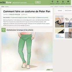 Comment faire un costume de Peter Pan: 15 étapes