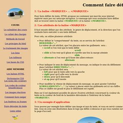 Comment faire d filer du texte sur ma page