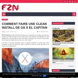 Comment faire une clean install de OS X El Capitan