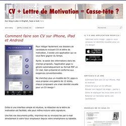 Comment faire son CV sur iPhone, iPad et Android