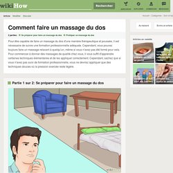 faire un massage du dos