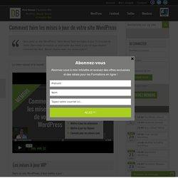 Comment faire les mises à jour de votre site WordPress