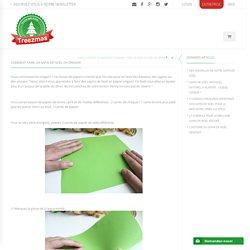 Comment faire un sapin de Noël en origami - Treezmas