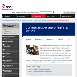 Comment faire un plan d'affaires