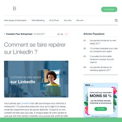 Comment se faire repérer sur LinkedIn? Wix.com