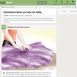 Comment faire un tutu en tulle: 16 étapes