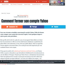 Comment fermer son compte Yahoo