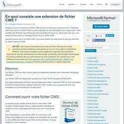 Comment ouvrir les fichiers CWS - Extension de fichiers CWS