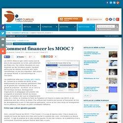 Comment financer les MOOC ?