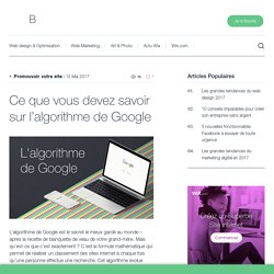 Comment fonctionne l'algorithme de Google ? Wix.com