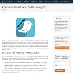 Comment fonctionne Twitter Analytics