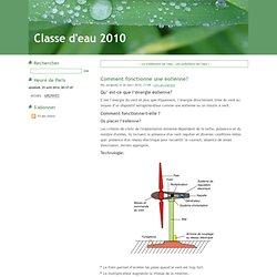 Comment fonctionne une éolienne? - Classe d'eau 2010