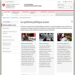 Comment fonctionne le système politique suisse