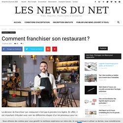Comment franchiser son restaurant ?