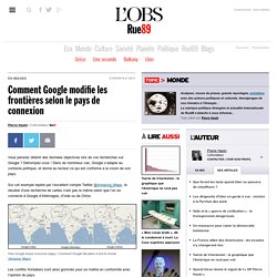 Comment Google modifie les frontières selon le pays de connexion