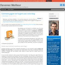 Comment gagner de l'argent avec votre blog