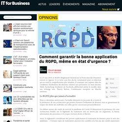 Comment garantir la bonne application du RGPD, même en état d'urgence ?