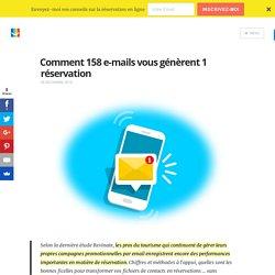 Comment 158 e-mails vous génèrent 1 réservation - Blog elloha