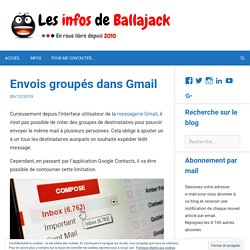 Comment créer un groupe de destinataires dans Gmail