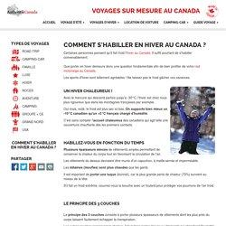 Comment s'habiller en hiver au Canada ?